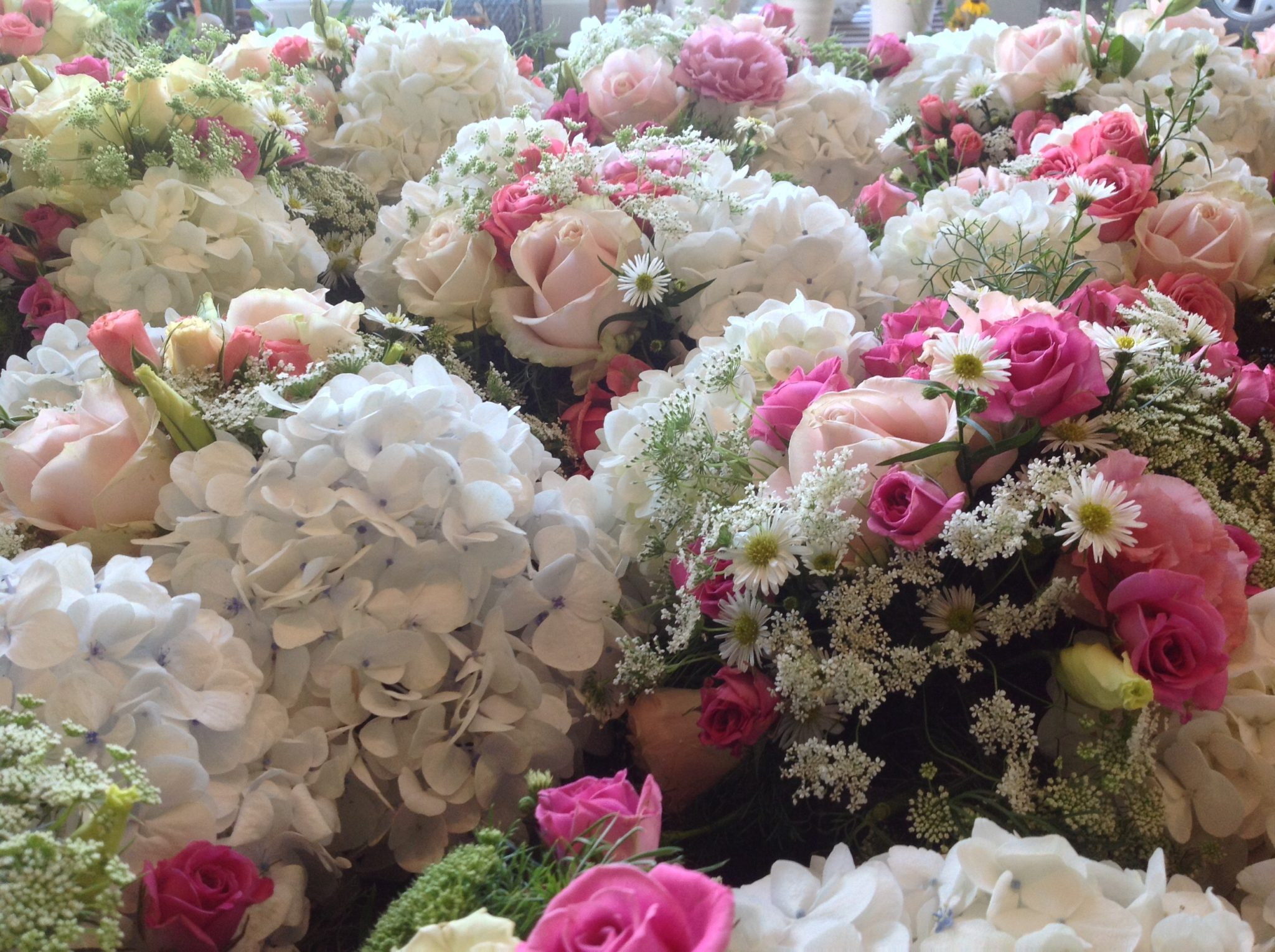 Posies ready for the wedding!