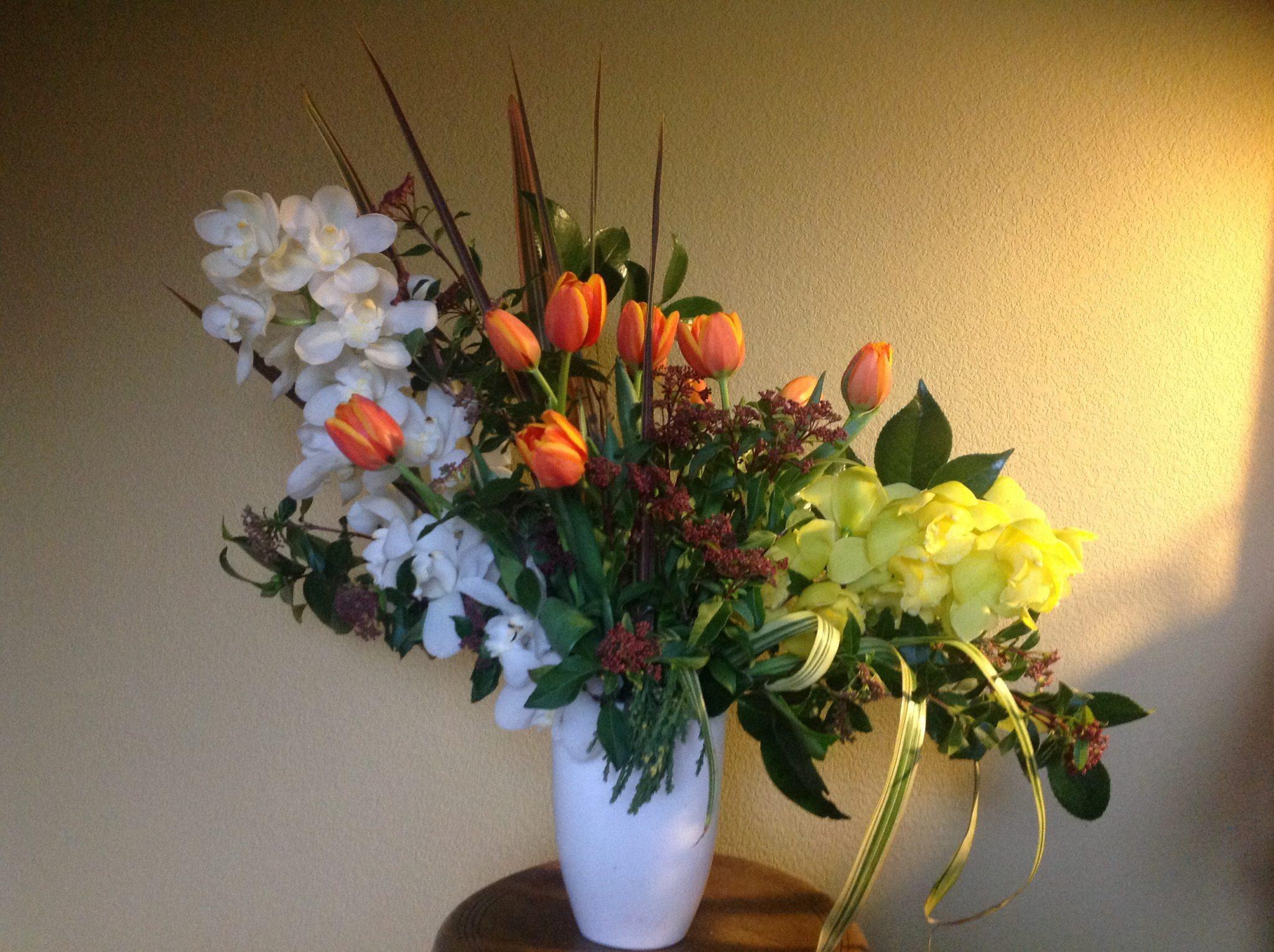 Cymbidium & Tulip #WabiSabi