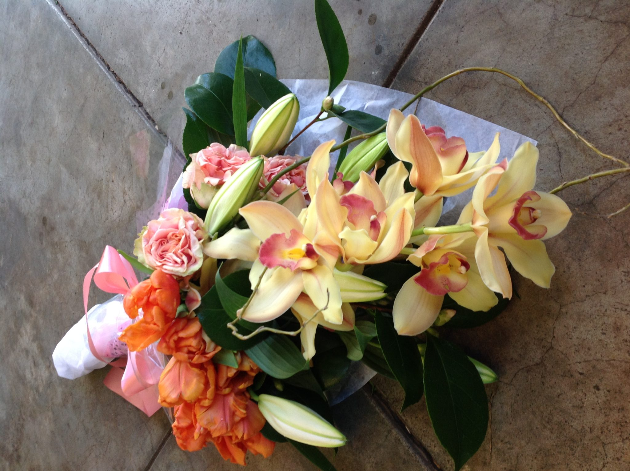 Our handtied bouquets are beautifully wrapped!
