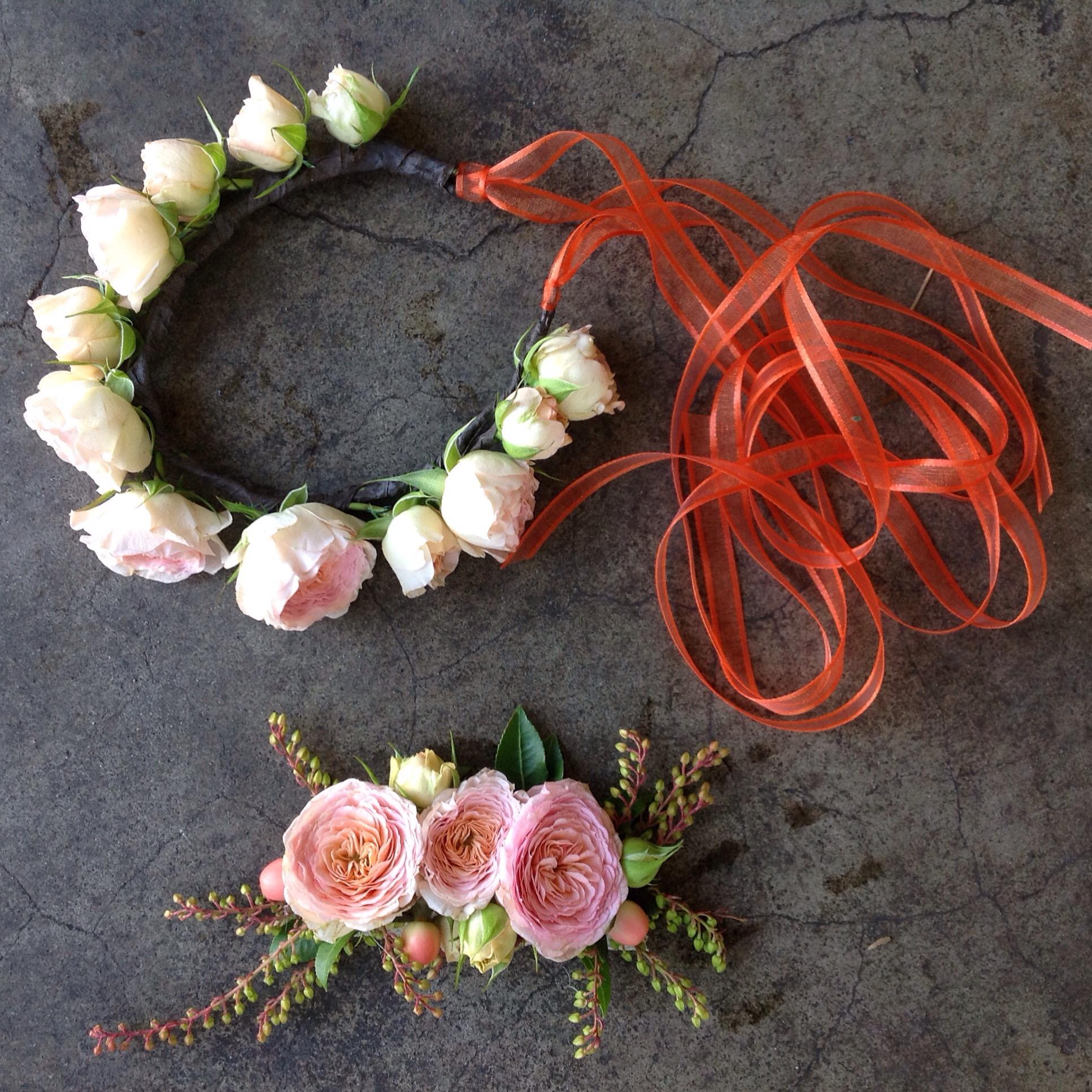 Flower Crown & Barrette