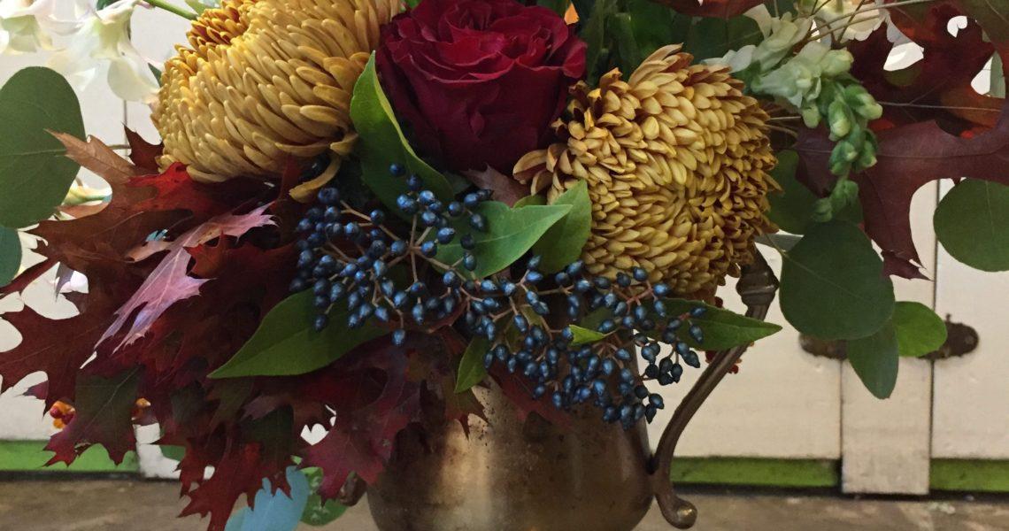 purple nosegay bride bouquet