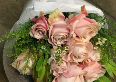 Pink Roses Present Bouquet