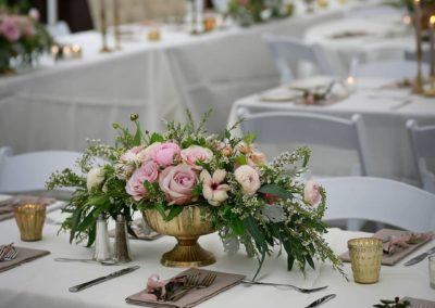 Table Garden style lush table arrangement