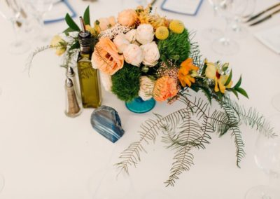 Table arrangement from above