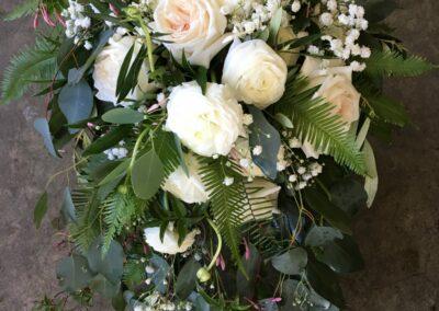 Bride Bouquet Cascade Lush Rose White