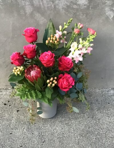 Half Dozen Rose Arranged